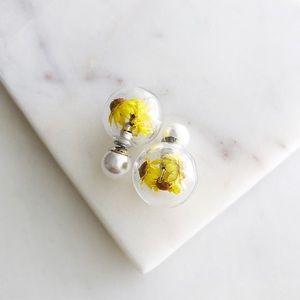 Flower Stud Earrings / 2 sided earrings
